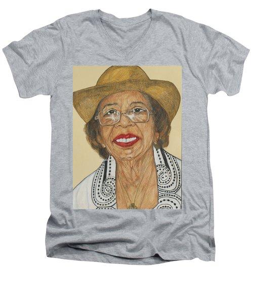 Della Willis Portrait Men's V-Neck T-Shirt