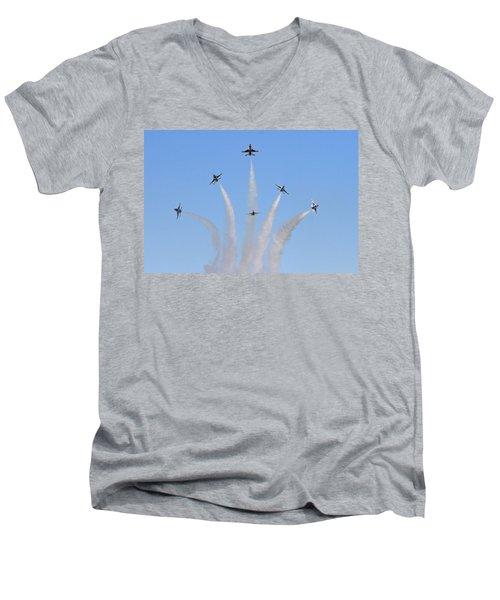 Delta Burst Men's V-Neck T-Shirt by Shoal Hollingsworth