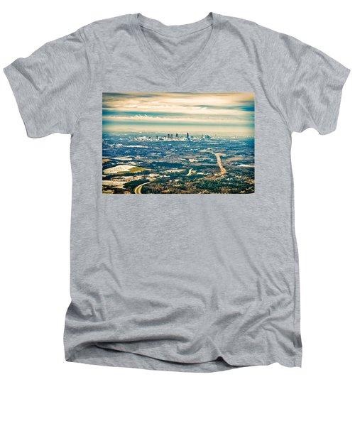 Atlanta Men's V-Neck T-Shirt by Robert FERD Frank