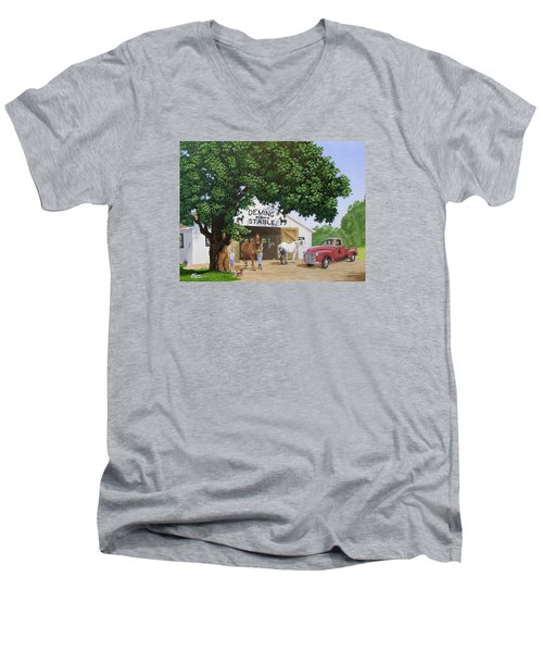 Deming Stables Men's V-Neck T-Shirt