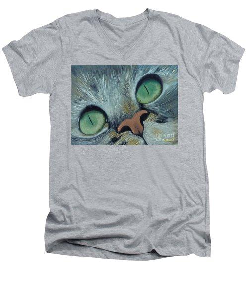 Denise's Cat Jasmine Men's V-Neck T-Shirt