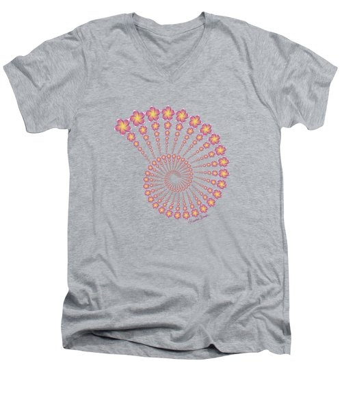 Denise's Frangipani  Spiral Shell Men's V-Neck T-Shirt