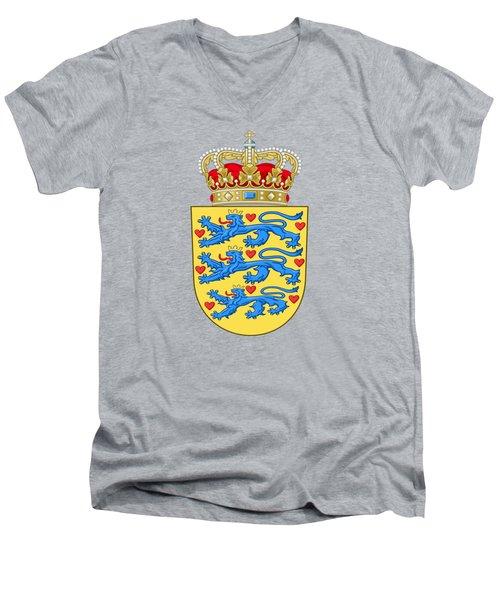 Denmark Coat Of Arms Men's V-Neck T-Shirt