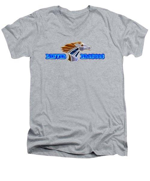Denver Broncos Men's V-Neck T-Shirt