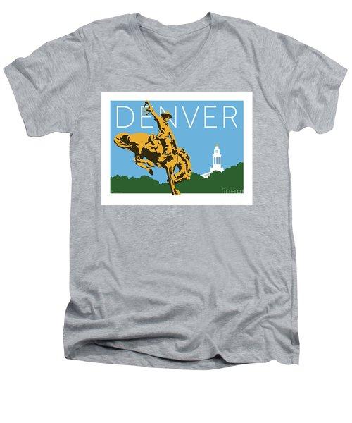 Denver Cowboy/sky Blue Men's V-Neck T-Shirt