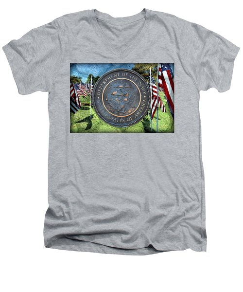 Department Of The Navy - United States Men's V-Neck T-Shirt