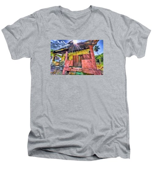 Derelict House Men's V-Neck T-Shirt by Nadia Sanowar