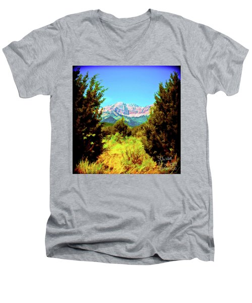 Deseret Peak Men's V-Neck T-Shirt