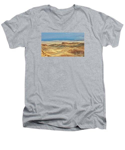 Desert And Dead Sea Men's V-Neck T-Shirt