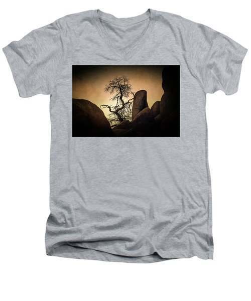 Desert Bonsai II Men's V-Neck T-Shirt