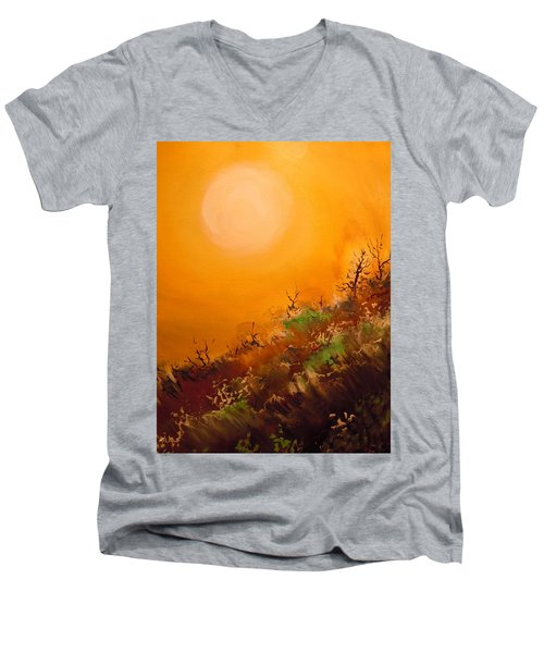 Hot Desert  Evening  Men's V-Neck T-Shirt by Dan Whittemore