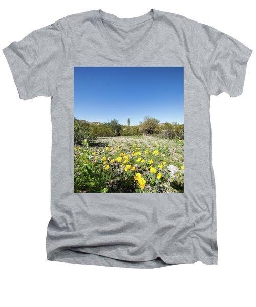 Desert Flowers And Cactus Men's V-Neck T-Shirt