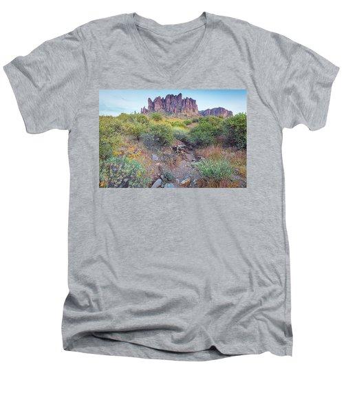 Desert Flowers Men's V-Neck T-Shirt