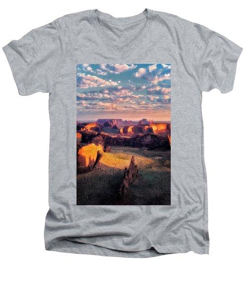Desert Glow   Men's V-Neck T-Shirt by Nicki Frates