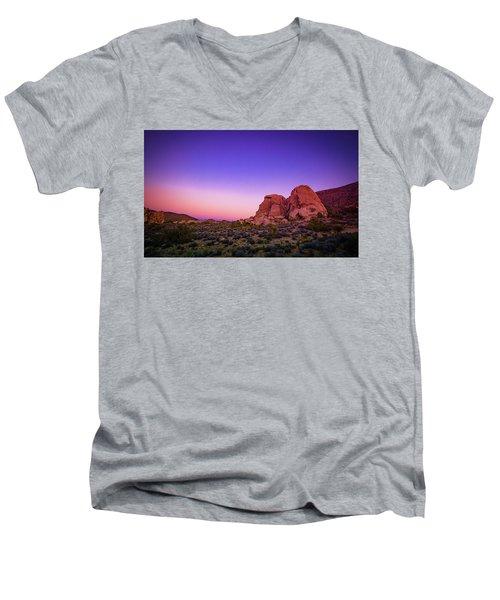 Desert Grape Rock Men's V-Neck T-Shirt