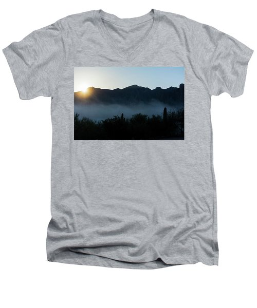 Desert Inversion Sunrise Men's V-Neck T-Shirt