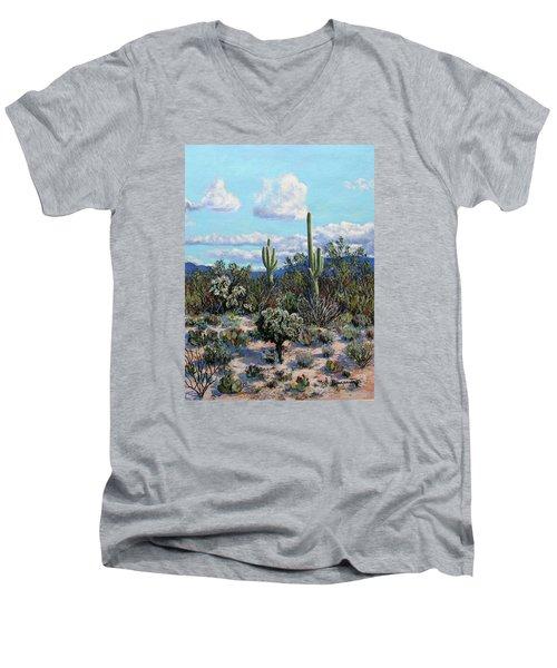 Desert Landscape Men's V-Neck T-Shirt by M Diane Bonaparte