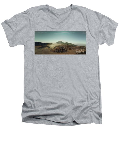 Men's V-Neck T-Shirt featuring the photograph Desert Mountain  by MGL Meiklejohn Graphics Licensing