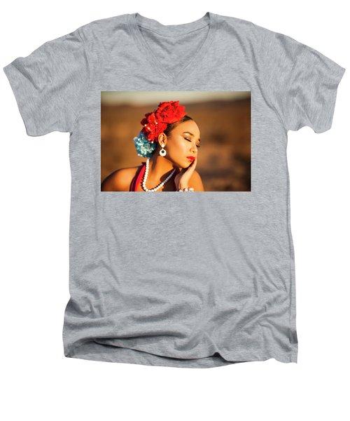 Desert Pearl Men's V-Neck T-Shirt