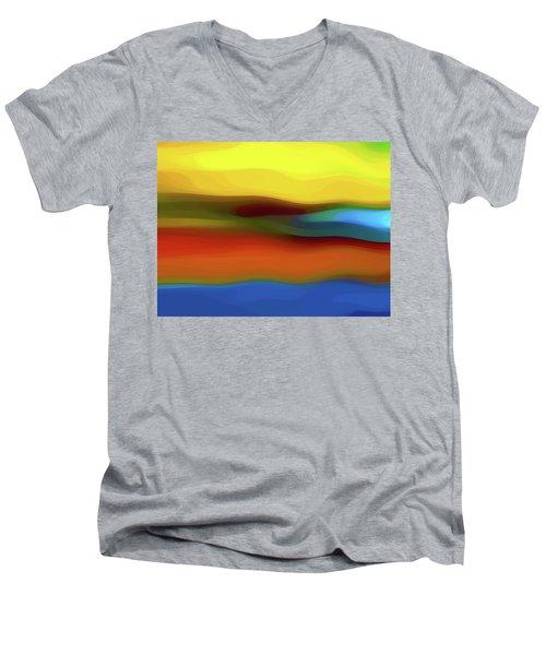 Desert River Landscape Men's V-Neck T-Shirt