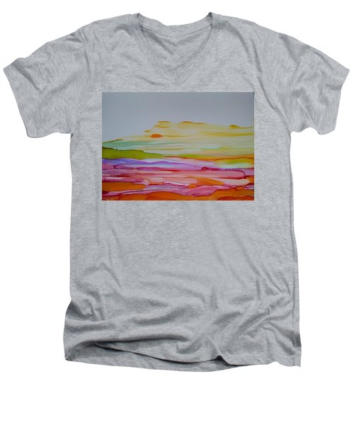 Desert Steppe Men's V-Neck T-Shirt