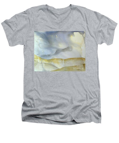 Desert Storm Men's V-Neck T-Shirt by Lynda Cookson