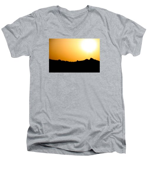 Men's V-Neck T-Shirt featuring the photograph Desert Strength  by Jez C Self