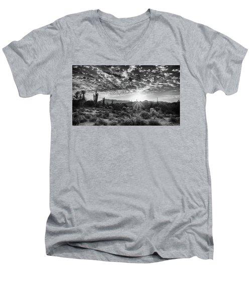 Desert Sunrise Men's V-Neck T-Shirt by Monte Stevens