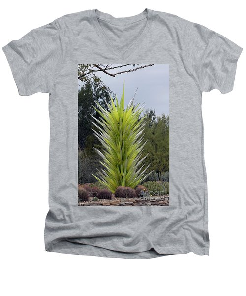 Desert Tower 2008 #2 Men's V-Neck T-Shirt by Anne Rodkin