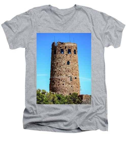 Desert View Watchtower At The Grand Canyon Men's V-Neck T-Shirt
