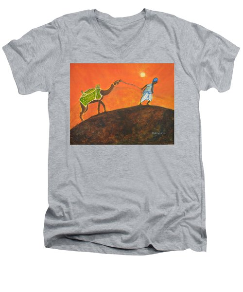 Desert Walk Men's V-Neck T-Shirt