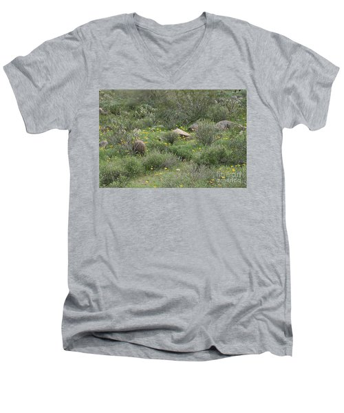 Desert Wildflowers Men's V-Neck T-Shirt by Anne Rodkin