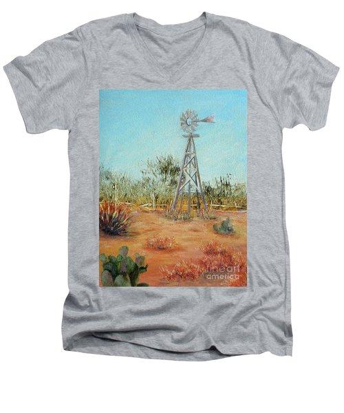 Desert Windmill Men's V-Neck T-Shirt