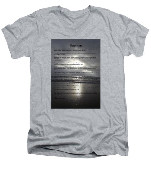Desiderata 12 Men's V-Neck T-Shirt