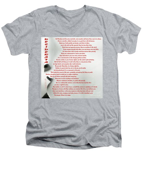 Men's V-Neck T-Shirt featuring the photograph Desiderata 30 by Wendy Wilton
