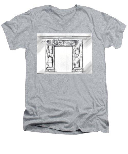 Design For Trompe L'oeil Men's V-Neck T-Shirt