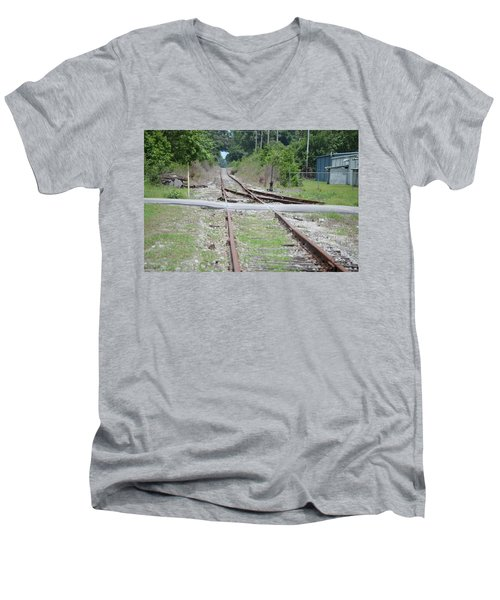 Desolate Rails Men's V-Neck T-Shirt