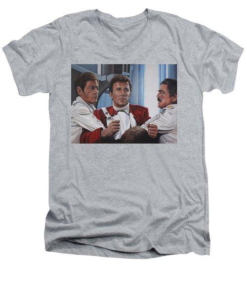 Despiration In His Eyes Men's V-Neck T-Shirt