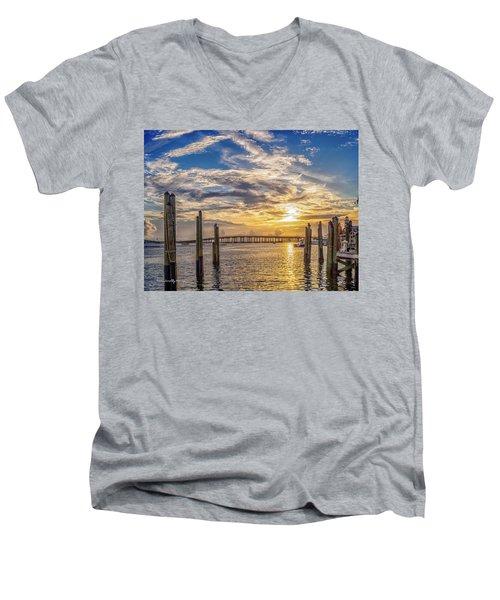 Destin Harbor #1 Men's V-Neck T-Shirt