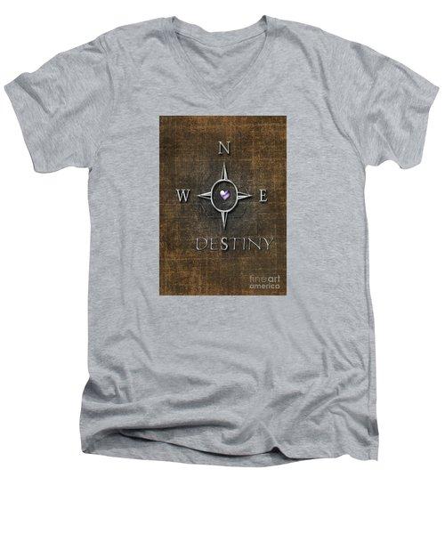 Destiny Men's V-Neck T-Shirt by Linda Prewer