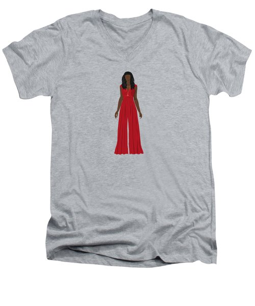 Destiny Men's V-Neck T-Shirt by Nancy Levan