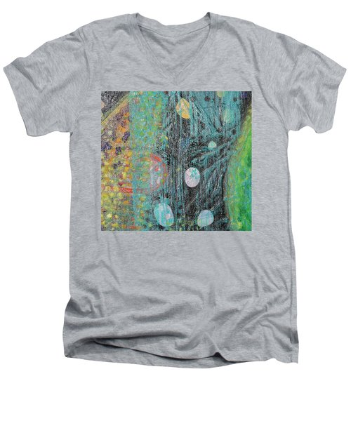 Detail From Creation Of Adam And Eve Men's V-Neck T-Shirt