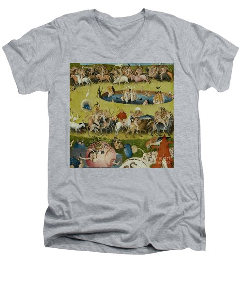 Detail From The Central Panel Of The Garden Of Earthly Delights Men's V-Neck T-Shirt by Hieronymus Bosch