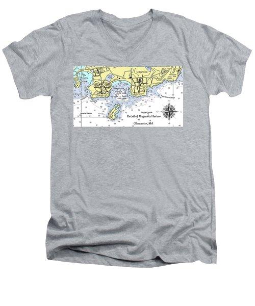 Detail Of Magnolia Harbor Men's V-Neck T-Shirt