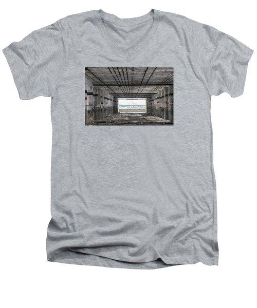Detroit Packard Plant  Men's V-Neck T-Shirt by John McGraw