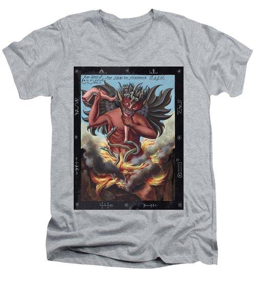 Devil, 1057 Men's V-Neck T-Shirt