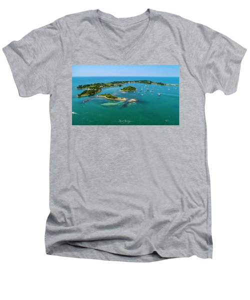 Devils Foot Island Men's V-Neck T-Shirt
