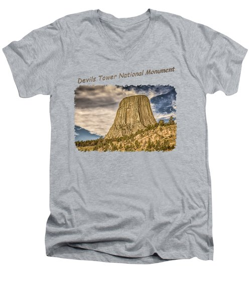 Devils Tower Inspiration 2 Men's V-Neck T-Shirt