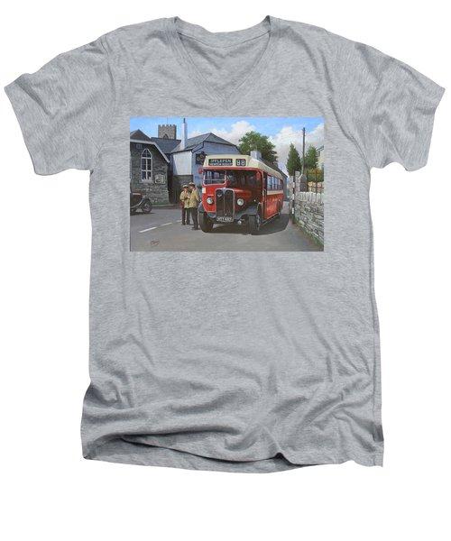 Devon General Aec Regal. Men's V-Neck T-Shirt