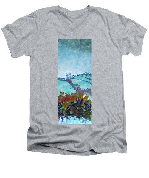 Devon Landscape Painting - Hills Near Exeter Men's V-Neck T-Shirt